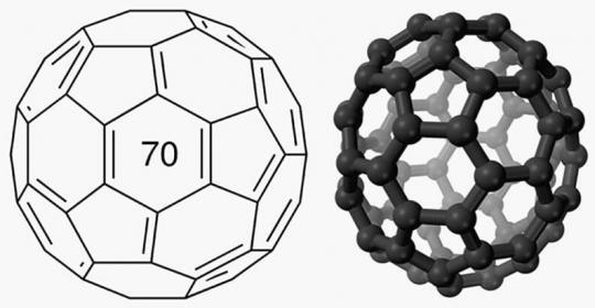 structure of Fullerene C70