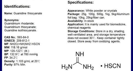 Guanidinium thiocyanate CAS 593-84-0